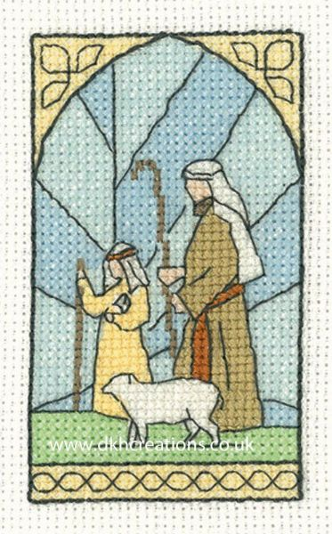 Shepherds  Christmas Greetings Card Cross Stitch Kit
